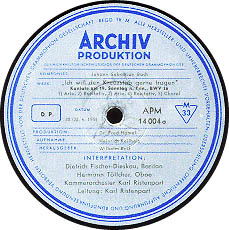 古典黑胶唱片标签之ARCHIV