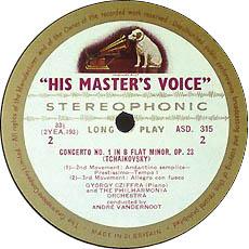 古典黑胶唱片标签之HMV(EMI)